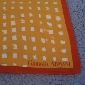 Vintage 1980s Giorgio Armani Silk Scarf